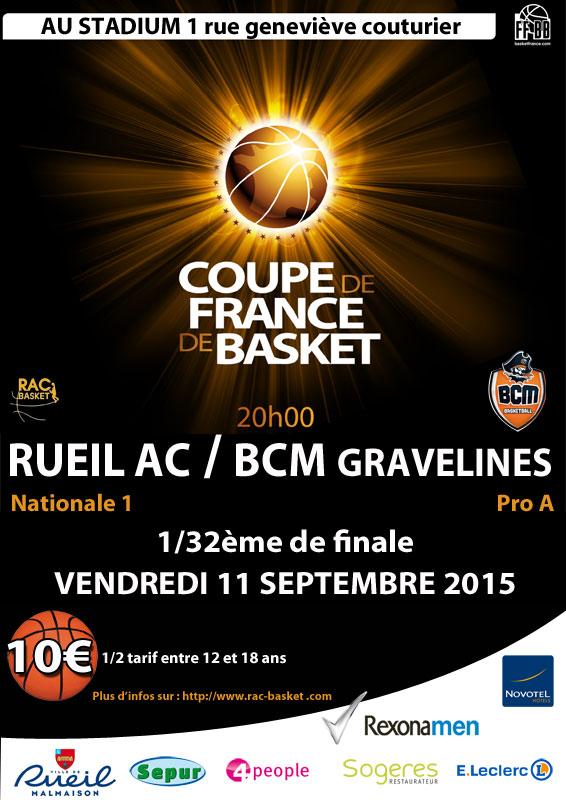 Les 32e de finale sont connus r a c basket - Tirage au sort coupe de france 32 finale ...