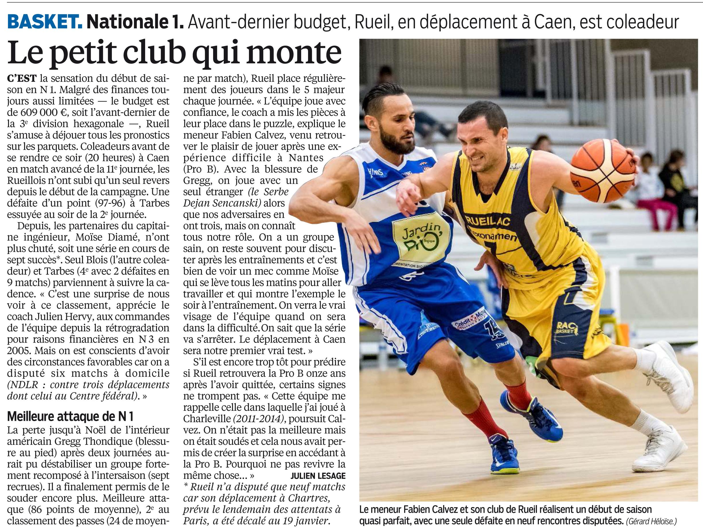 Le Petit Club Qui Monte R A C Basket