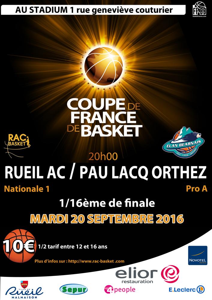 1 16 me de finale de coupe de france r a c basket - Tirage des 16eme de finale de la coupe de france ...